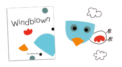 Windblown shapes collage activity