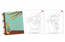 Golden Threads coloring sheets