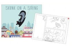 Skunk on a String coloring sheets