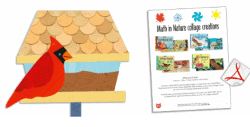 Math in Nature collage activity sheets