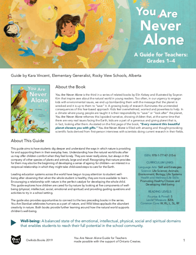 You Are Never Alone Teacher Guide